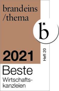 BrandEins Beste Wirtschaftskanzlei 2021