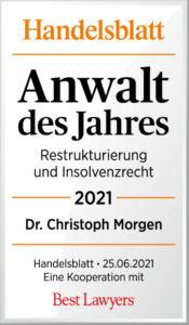 Handelsblatt Best Lawyers Dr. Christoph Morgen