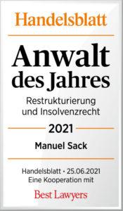 Handelsblatt Best Laywers Manuel Sack