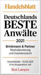 Handelsblatt Best Lawyers 2021