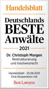 Handelsblatt Best Laywers Dr. Christoph Morgen_DbA