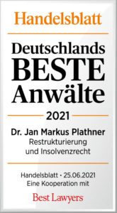 Handelsblatt Best Laywers Dr. Jan Markus Plathner_DbA