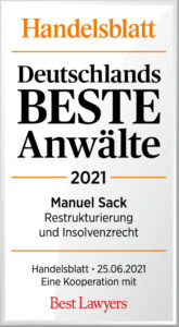Handelsblatt Best Laywers Manuel Sack_DbA